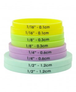 Silicone Rolling Pin Spacer Bands Set/8